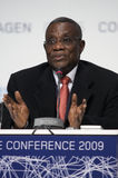 John Atta Mills President of Ghana. President of Ghana, John Atta Mills, speaking at COP15, United Nations Climate Change Conference Copenhagen 2009 royalty free stock image