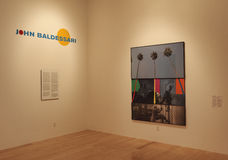 John Baldessari Exhibit Stock Photography