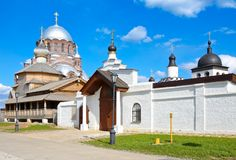 John Baptist Monastery Ilha de Sviyazhsk Rússia foto de stock royalty free