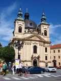 John The Baptist's church, Kromeriz, Czech Rep Stock Image