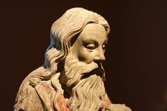 John The Baptist/statua/testa Fotografia Stock Libera da Diritti
