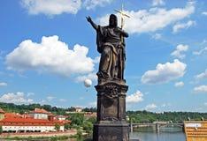 John the Baptist statue, Prague. Stock Image