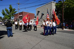 The 2015 John Basilone Parade 54. John Basilone (November 4, 1916 – February 19, 1945) was a United States Marine Gunnery Sergeant who received the nation royalty free stock photo