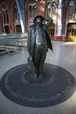 John Betjeman Statue at st Pancras Station Royalty Free Stock Photo