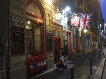 John Bull British Sport Pub in Boedapest, Hongarije royalty-vrije stock afbeelding