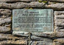 John Burroughs Memorial Plaque Lizenzfreies Stockfoto