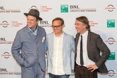 John C Reilly, Steve Coogan e direttore Jon Baird fotografia stock libera da diritti