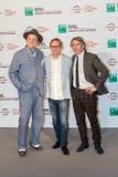 John C Reilly, Steve Coogan e direttore Jon Baird fotografie stock libere da diritti