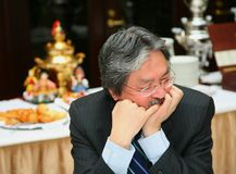 John C. Tsang - Financial Secretary Hong Kong Spec Royalty Free Stock Photography