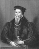 John Caius. (1510-1573) on engraving from the 1800s. English physician and second founder of the Gonville and Caius College, Cambridge. Engraved by Egleton and Royalty Free Stock Photo