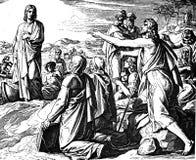 John Calls Jesus l'agneau de Dieu Images libres de droits