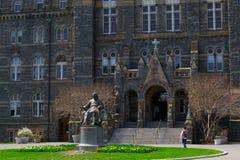 John Carrol devant l'université de Georgetown Images libres de droits