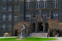 John Carrol in front of Georgetown University Royalty Free Stock Images