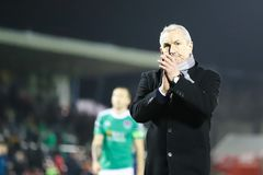 John Caulfield during the Cork City FC vs Waterford FC match at Turners Cross for the League of Ireland Premier Division