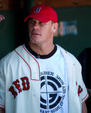 John Cena at Fenway Park. Stock Photo