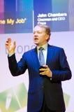 John Chambers em MWC 2012 Imagens de Stock Royalty Free