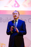 John Chambers at MWC 2012 Royalty Free Stock Images