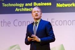 John Chambers at MWC 2012 Stock Image