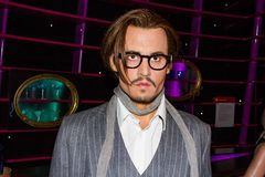Johnny Depp wax figure, Madame Tussaud`s Museum Vienna. John Christopher Depp II is an American actor, producer and musician. He has been nominated for ten royalty free stock photography