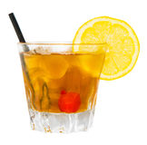 John Collins Drink. Alcoholic drink isolated on white background Royalty Free Stock Photos