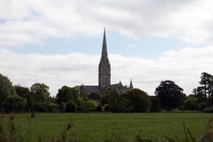 John Constable's view. John Constable the Suffolk painter's favourite view of Salisbury Cathedral, the watermeadows in the foreground Stock Photography