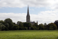 John Constable's view 2. John Constable the Suffolk painter's favourite view of Salisbury Cathedral, the watermeadows in the foreground Stock Photography