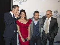 John Corbett, Nia Vardalos, Joey Fatone und Gia Carides stockfoto