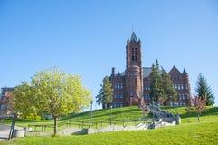 Syracuse University, Syracuse, New York, USA. John Crouse memorial College in Syracuse University, Syracuse, New York State, USA. This Romanesque building, built royalty free stock photo