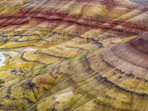 John Day Fossil Beds målade kullar Arkivbild