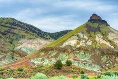 John Day Fossil Beds Sheep-Felsen-Einheits-Landschaft Stockfoto
