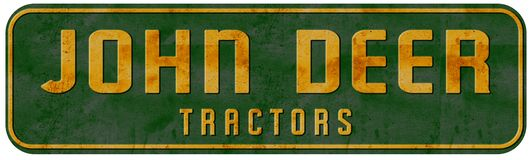 John Deer Tractor Sign Vintage Texas Ranch immagini stock libere da diritti