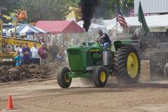 John Deere 6030 Tractor pulling Stock Image
