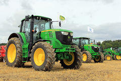John Deere Agricultural Tractors Images stock