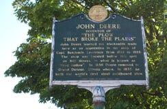 John Deere Apprenticeship Plaque fotografering för bildbyråer