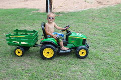 John Deere attracts young farmers of all ages Royalty Free Stock Images