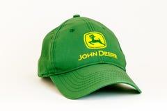 John Deere-Baseballmütze Stockbild