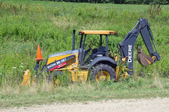 A John Deere Construction Tractor Stock Images
