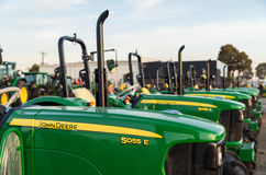 John Deere dealership in Shepparton, Australia. Shepparton, Australia - April 16, 2017: John Deere is an American manufacturer of agricultural, forestry and Royalty Free Stock Photography