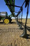 John Deere demonstration of a new crop sprayer Stock Photography