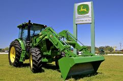 John Deere 6120E tractor Stock Photos