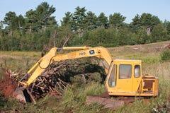 John Deere Excavator Arkivbild