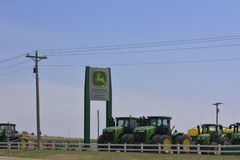 John Deere Farm tractor's stock photos