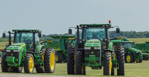 John Deere Farm Tractors Stock Images