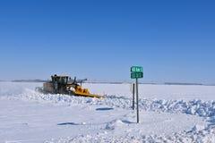 John Deere 772GP drogowa równiarka rozjaśnia autostradę zdjęcie stock