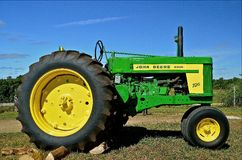John Deere 720 Restoration Stock Photo