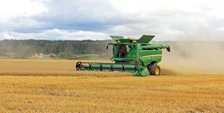 John Deere s670i Combine Harvesting Stock Image