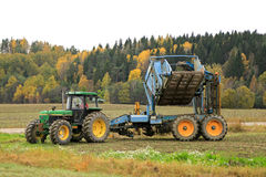 John Deere Sugar Beet Harvest in October Stock Image