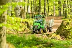 John Deere Tractor Royalty-vrije Stock Foto's