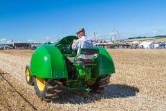 John Deere Tractor d'annata anziano alla manifestazione Fotografia Stock Libera da Diritti
