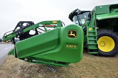 John Deere Tractor e logo Fotografia Stock